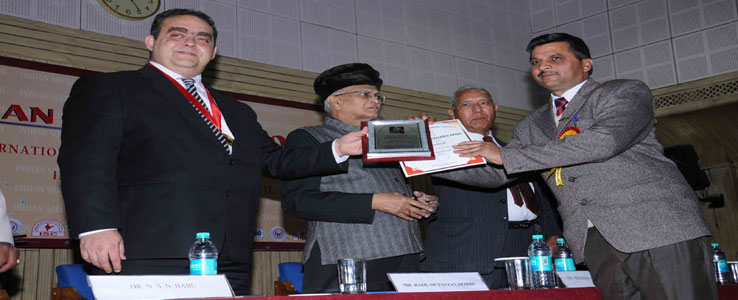 Gopal  Sharma President of School received Indira  Ghandhi Excellence Award  at New Delhi