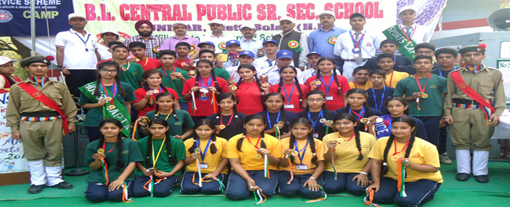 All Prize Winner with Chief Guest Principal JNV Kunihar on Sports meet