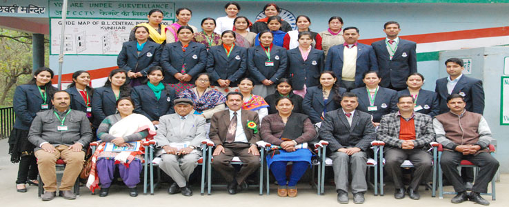 Staff with Deputy Director Higher Education Solan on Annual Prize Distribution Function